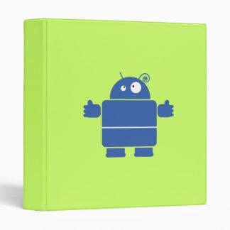 Cute Blue Robot Binder