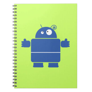 Cute Blue Robot Notebook