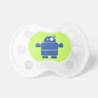 Cute Blue Robot Pacifiers