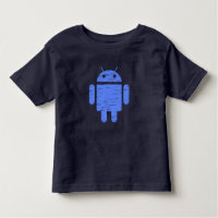 Cute Blue Robot Toddler T-shirt
