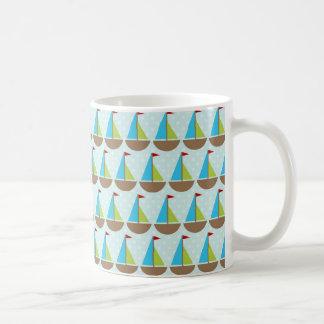 Cute Blue Sailboat Design for Boys Coffee Mug