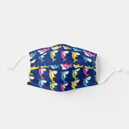 Cute Blue Shark Cloth Face Mask