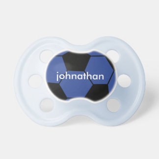 Cute Blue Soccer Ball Monogram Pacifier BooginHead Pacifier