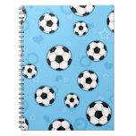 Cute Blue Soccer Star Print Notebooks