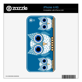 cute blue spotted owls iPhone 4S decal