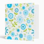 Cute blue spring flowers binders