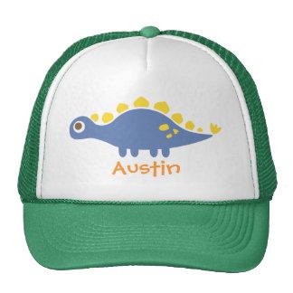Cute Blue Stegosaurus Dinosaur For Kids Hat