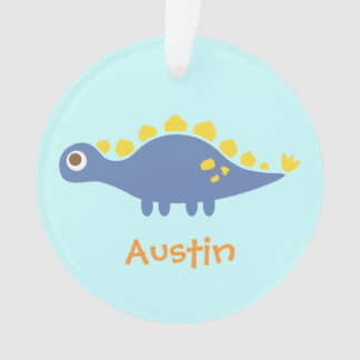 Cute Blue Stegosaurus Dinosaur For Kids Room Ornament