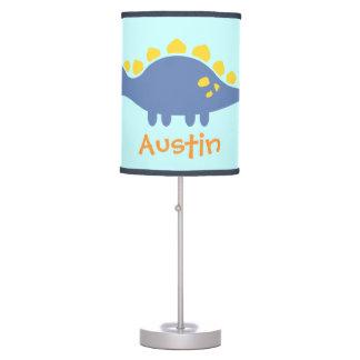 Cute Blue Stegosaurus Dinosaur For Kids Room Table Lamp