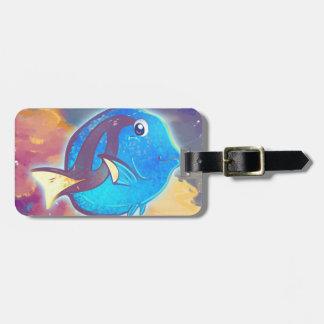 Cute Blue Tang Fish Bag Tag