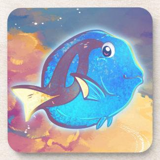 Cute Blue Tang Fish Coaster