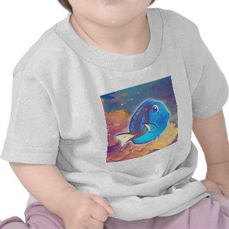 Cute Blue Tang Fish Tee Shirts
