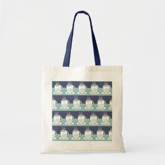 Cute Blue Teacup Print Bags