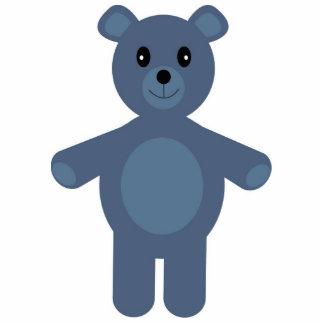 Cute blue teddy bear brooch acrylic cut out