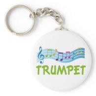 Cute Blue Trumpet Staff Keychain