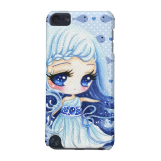 Cute blue water girl and kawaii fish iPod touch (5th generation) cover