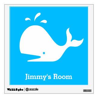 Cute Blue Whale 4Ethan Wall Sticker