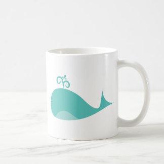 Cute Blue Whale Coffee Mug