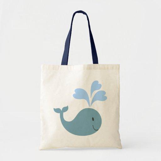 Cute Blue Whale Graphic Tote Bag