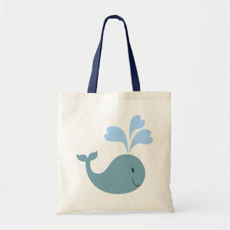 Cute Blue Whale Graphic Tote Bag