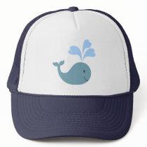 Cute Blue Whale Graphic Trucker Hat