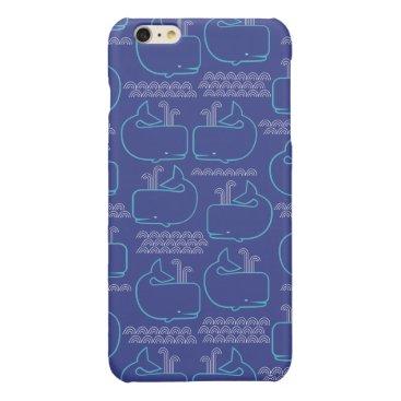 Cute blue whale iphone case