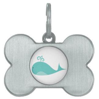 Cute Blue Whale Pet Tag