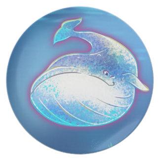 Cute Blue Whale Plate