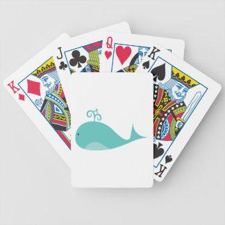 Cute Blue Whale Poker Deck