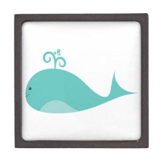Cute Blue Whale Premium Trinket Boxes