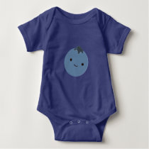 Cute Blueberry Baby Bodysuit
