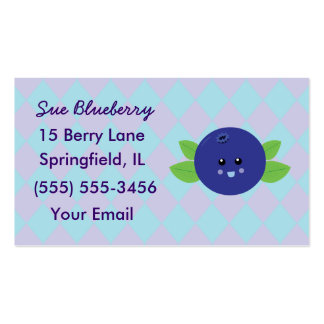Cute Blueberry Business Cards