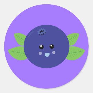 Cute Blueberry Classic Round Sticker