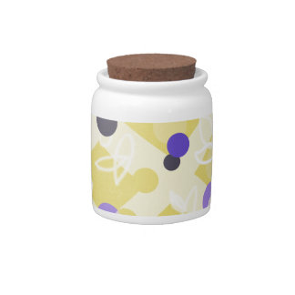 Cute Blueberry Cottage Trellis Motif - Candy Jars