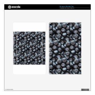 Cute Blueberry Fruit Pattern Kindle Fire Skin