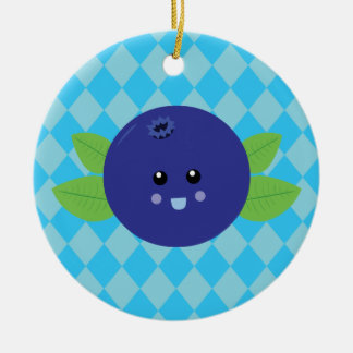 Cute Blueberry Christmas Tree Ornament