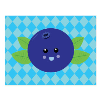 Cute Blueberry Post Cards