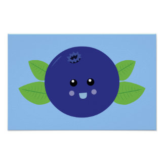 Cute Blueberry Poster