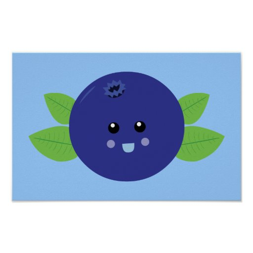 Cute Blueberry Print