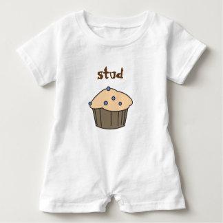 Cute  Blueberry Stud Muffin Baby Boy Romper