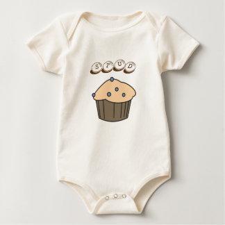 Cute Blueberry Stud Muffin Organic Baby Bodysuit