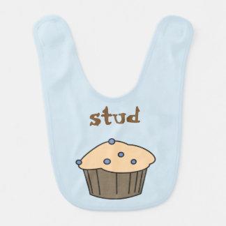 Cute Blueberry Stud Muffins  Baby Bib