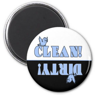 Cute Bluebird Clean Dirty Magnet for Dishwasher
