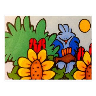 cute bluebird in tree postcard
