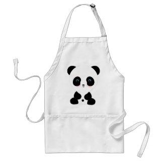 Cute Blushing Panda Bear Apron