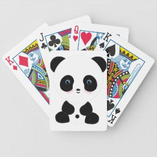 Cute Blushing Panda Bear Bicycle Card Deck