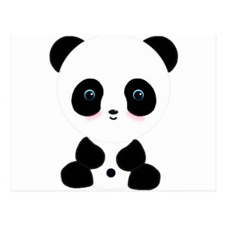 Cute Blushing Panda Bear Postcard