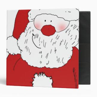 Cute Blushing Santa 3 Ring Binder
