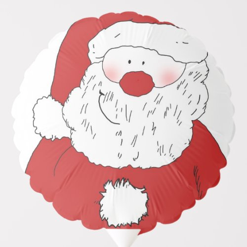 Cute Blushing Santa Balloon