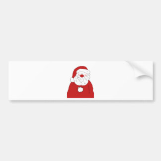 Cute Blushing Santa Bumper Sticker